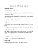 Giáo án bài 13: Bài toán dân số - Ngữ văn 8