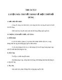 Bài 14: Luyện nói - Thuyết minh về một thứ đồ dùng - Giáo án Ngữ văn 8
