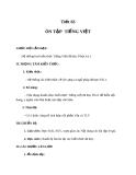 Giáo án bài Ôn tập và kiểm tra phần tiếng Việt - Ngữ văn 8