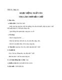 Giáo án bài 17: Hoạt động ngữ văn: Làm thơ 7 chữ - Ngữ văn 8