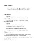 Bài 19: Thuyết minh về một phương pháp - Giáo án Ngữ văn 8