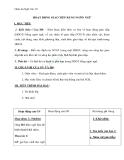 Giáo án bài: Hoạt động giao tiếp bằng ngôn ngữ - Ngữ văn 10 - GV:T.V.Hùng