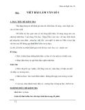 Giáo án Ngữ văn 10 tuần 2: Viết bài làm văn số 1