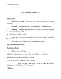 Giáo án Ngữ văn 10 tuần 4: Lập dàn ý bài văn tự sự