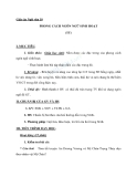 Giáo án Ngữ văn 10 tuần 14: Phong cách ngôn ngữ sinh hoạt (tt)