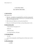 Giáo án Ngữ văn 10 tuần 9: Ca dao than thân, yêu thương tình nghĩa