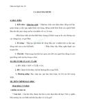 Giáo án Ngữ văn 10 tuần 10: Ca dao hài hước