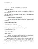 Giáo án Ngữ văn 10 tuần 10: Luyện tập viết đoạn văn tự sự