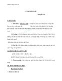 Giáo án Ngữ văn 10 tuần 13: Cảnh ngày hè