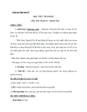 Giáo án Ngữ văn 10 tuần 14: Đọc Tiểu Thanh kí