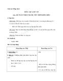Giáo án tuần 7 bài Tập làm văn: Kể ngắn theo tranh - Tiếng việt 2 - GV. Hoàng Quân