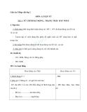 Giáo án tuần 8 bài Luyện từ và câu: Từ chỉ hoạt động, trạng thái - Tiếng việt 2 - GV. Hoàng Quân