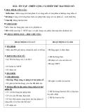 Giáo án Toán 5 chương 1 bài 5: Ôn tập Phép cộng và phép trừ hai phân số
