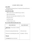 Giáo án Kỹ thuật 5 bài 9: Cắt, khâu, thêu hoặc nấu ăn tự chọn