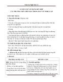 Giáo án Ngữ văn 12 tuần 13: Luyện tập vận dụng kết hợp các phương thức biểu đạt trong văn nghị luận