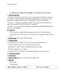 Giáo án Ngữ văn 12 tuần 14: Luyện tập vận dụng  kết hợp các thao tác lập luận