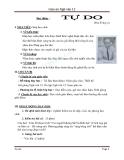 Giáo án Ngữ văn 12 tuần 14: Đọc thêm: Tự do