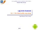 Bài giảng Lập trình Android: Bài 2 - Trung tâm tin học ĐH KHTN