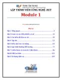 Giáo trình Lập trình viên công nghệ .net (Module 1) - Trung tâm tin học ĐH KHTN