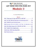 Giáo trình Lập trình viên công nghệ .net (Module 3) - Trung tâm tin học ĐH KHTN