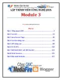 Giáo trình Lập trình viên công nghệ Java (Module 3) - Trung tâm tin học ĐH KHTN