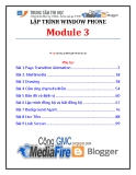 Giáo trình Lập trình Window Phone (Module 3) - Trung tâm tin học ĐH KHTN