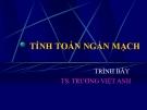 Bài giảng Hệ thống điện: Tính toán ngắn mạch - TS. Trương Việt Anh