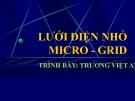 Bài giảng Hệ thống điện: Lưới điện nhỏ - TS. Trương Việt Anh