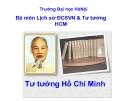 Bài giảng Tư tưởng Hồ Chí Minh: Chương VII - Lê Văn Bát