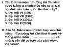 Bài giảng Tư tưởng Hồ Chí Minh: Đề kiểm tra - Lê Văn Bát