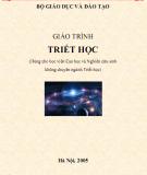 Giáo trình Triết học: Phần 1 (Dùng cho học viên Cao học và Nghiên cứu sinh không chuyên ngành triết học)