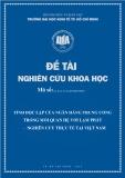 Đề tài khoa học: Tính độc lập của ngân hàng trung ương trong mối quan hệ với lạm phát-nghiên cứu thực tế tại Việt Nam