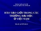 Nghiên cứu: Đào tạo Giới trong các trường đại học  ở Việt Nam