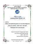 Tiểu luận Marketing quốc tế: Chiến lược Marketing quốc tế - Đưa sản phẩm Quýt Hồng Lai Vung® - Đồng Tháp - Việt Nam thâm nhập vào thị trường Mỹ