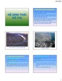 Bài giảng Hệ sinh thái đô thị
