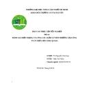 Đề tài: Đánh giá hiện trạng và công tác quản lý môi trường tại công ty CP thủy sản Vinh Quang
