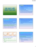 Bài giảng Các quy luật sinh thái học