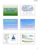 Bài giảng Sinh thái học vực nước