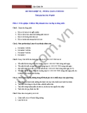 Đề thi nghiệp vụ - Phòng quản lý rủi ro