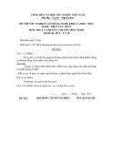 Đề thi & đáp án lý thuyết Điện tàu thủy năm 2012 (Mã đề LT48)
