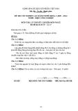 Đề thi & đáp án lý thuyết Điện công nghiệp năm 2012 (Mã đề LT17)