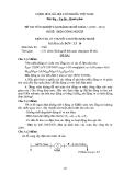 Đề thi & đáp án lý thuyết Điện công nghiệp năm 2012 (Mã đề LT10)