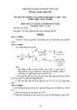 Đề thi & đáp án lý thuyết Điện công nghiệp năm 2012 (Mã đề LT6)