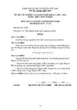 Đề thi & đáp án lý thuyết Điện công nghiệp năm 2012 (Mã đề LT16)