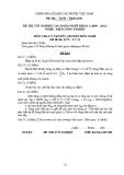 Đề thi & đáp án lý thuyết Điện công nghiệp năm 2012 (Mã đề LT31)