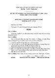 Đề thi & đáp án lý thuyết Điện công nghiệp năm 2012 (Mã đề LT1)