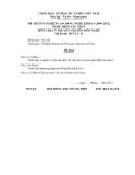 Đề thi & đáp án lý thuyết Điện tàu thủy năm 2012 (Mã đề LT15)