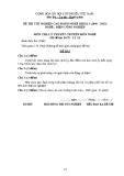 Đề thi & đáp án lý thuyết Điện công nghiệp năm 2012 (Mã đề LT14)