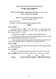 Đề thi & đáp án lý thuyết Điện công nghiệp năm 2012 (Mã đề LT7)