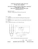 Đề thi & đáp án lý thuyết Điện tàu thủy năm 2012 (Mã đề LT14)